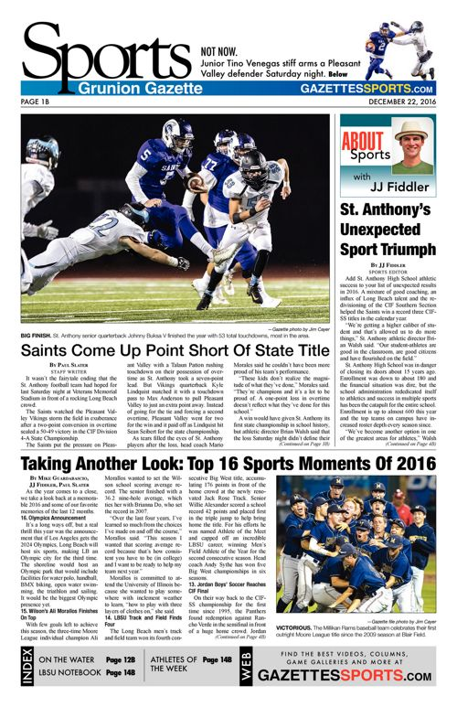 Gazette Sports     December 22, 2016