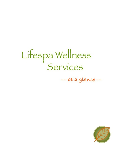 Lifespa Menu