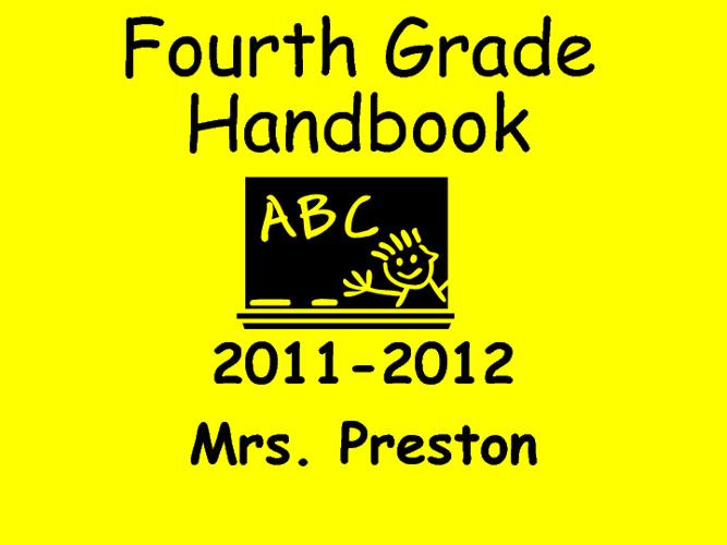 Fourth Grade Parent Orientation 2011-2012