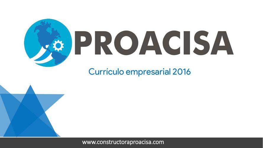 CURRICULUM PROACISA 2016