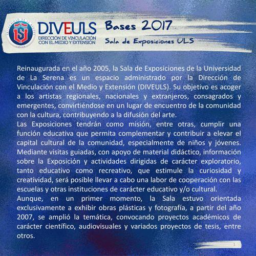 BASES 2017 / SALA DE EXPOSICIONES ULS (ARTES VISUALES)