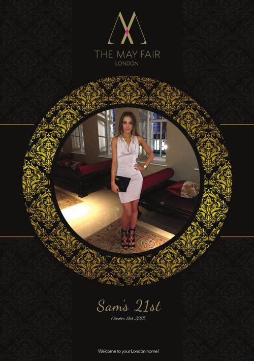 Sam's 21st - Mayfair Booklet