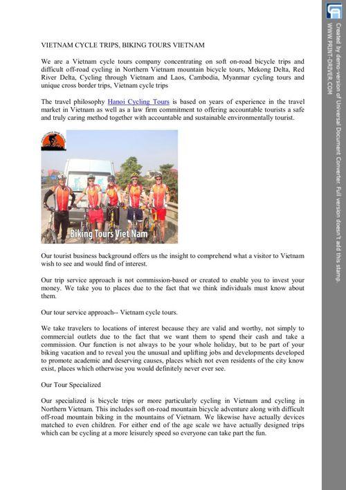 Hanoi Cycling Tours