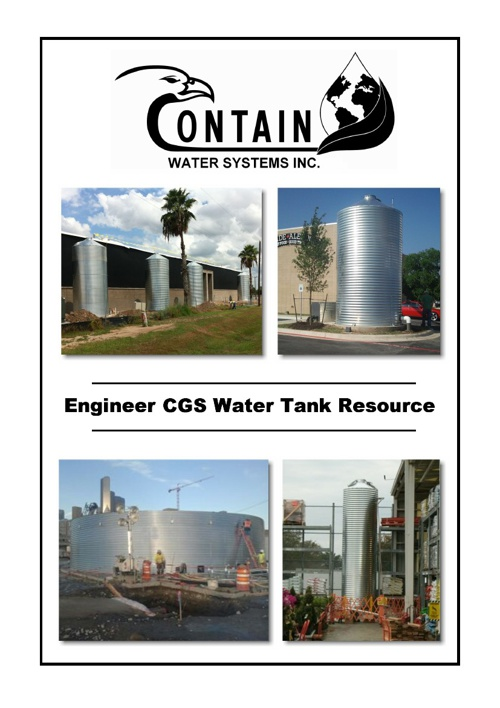 Contain Water Systems Inc. E Binder