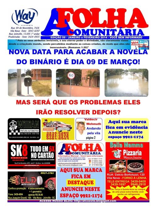 DIAGRAMAÇÃO EDIÇÃO A FOLHA COMUNITARIA-mes 2 de 2014
