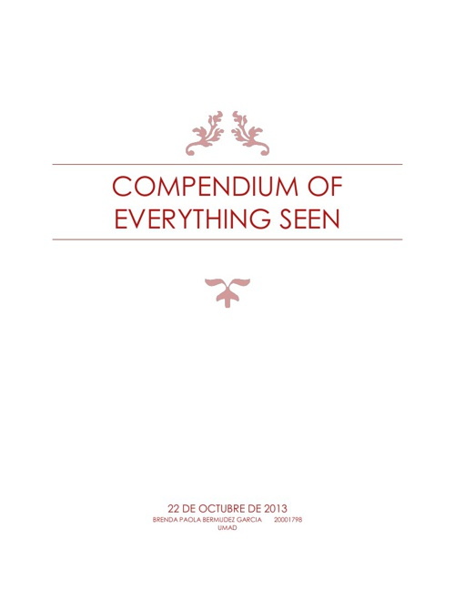 compendium of everything seen