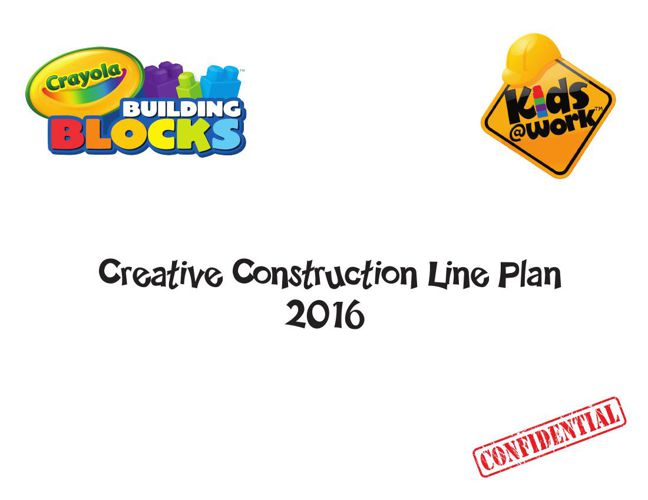 Crayola Creative Construction Line Plan 2016