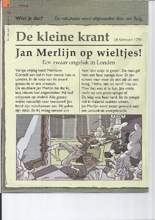 Jan Merlijn op wieltjes