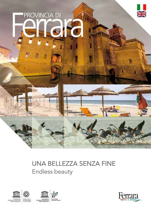 Materiale turistico informativo di Ferrara e provincia