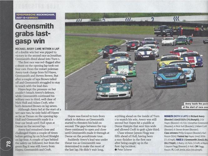 Autosport  Race Report - Rockingham July 12/13
