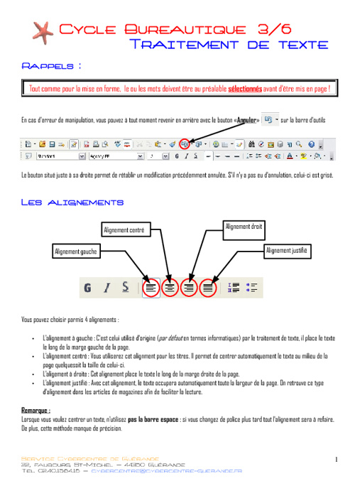 Atelier 3 : Utilisatio de Open Office