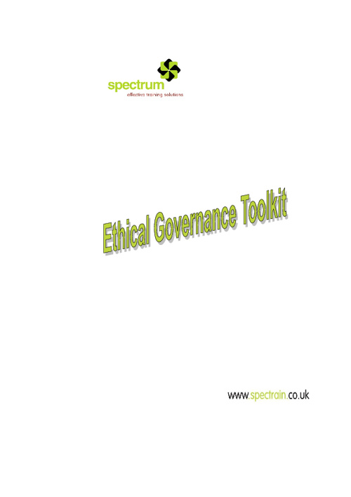Ethical Governance & Compliance Toolkit