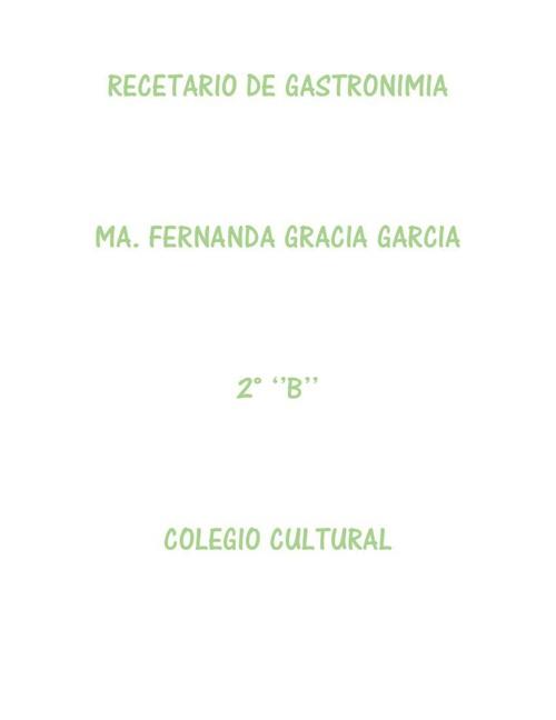 RECETARIO DE GASTRONIMIA