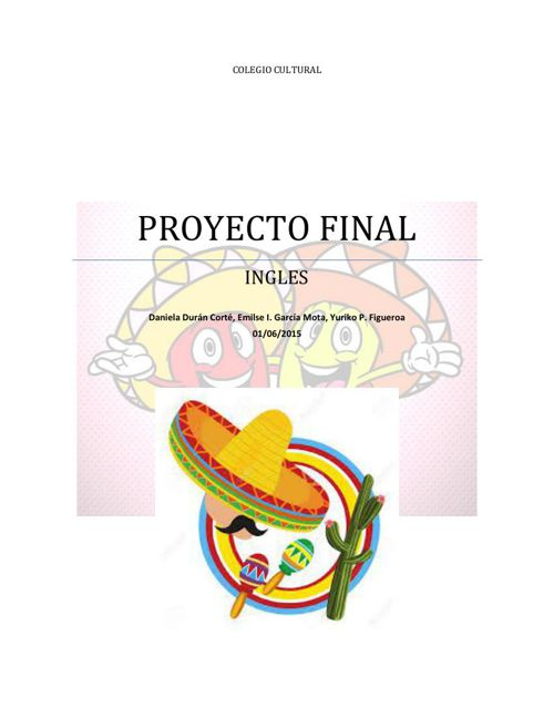 proyecto final de ingles