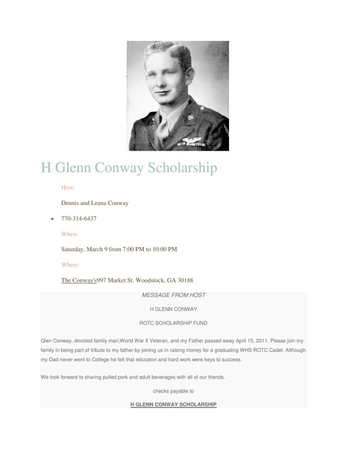 H. Glenn Conway Scholarship Fundraising Event