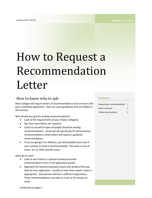 How to Request a Recommendation Letter
