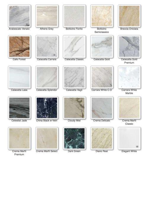 marble slab colors
