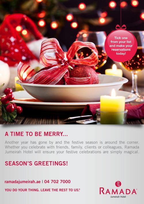 Ramada Jumeirah Festive Offer