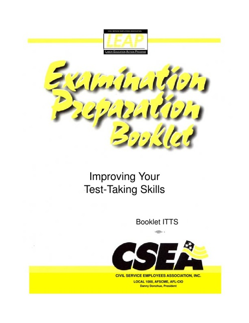 Improving Your Test-Taking Skills - CSEA Tax Local