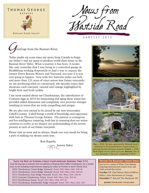 TGE Newsletter Summer 2013