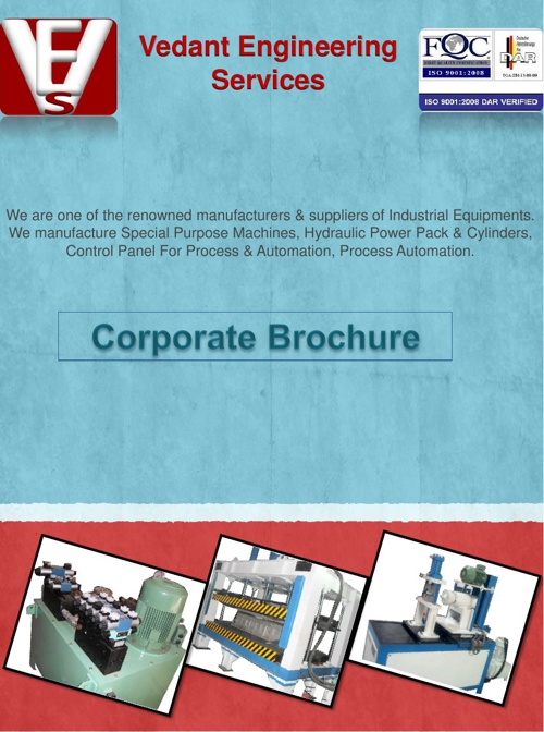 Welcome !!!  Vedant Engineering Services