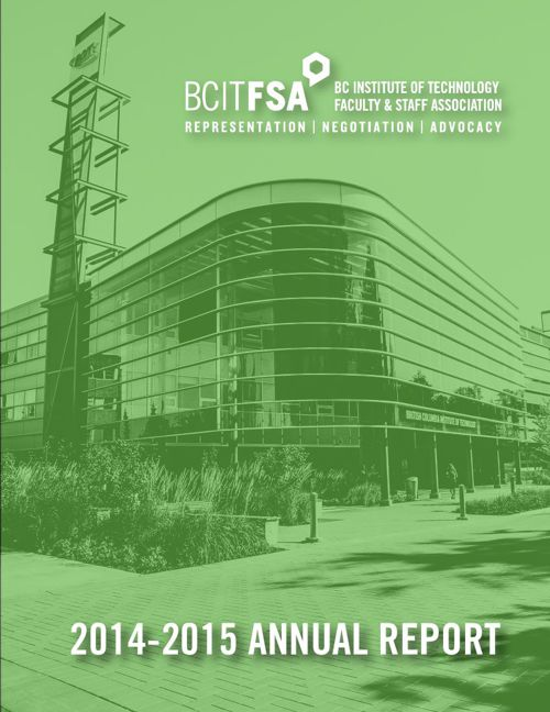 2014-2015 BCIT Faculty and Staff Association Annual Report