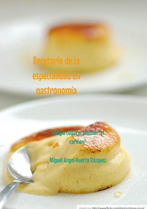 "Gastronomía Miguel Huerta Vázquez 2""A"""