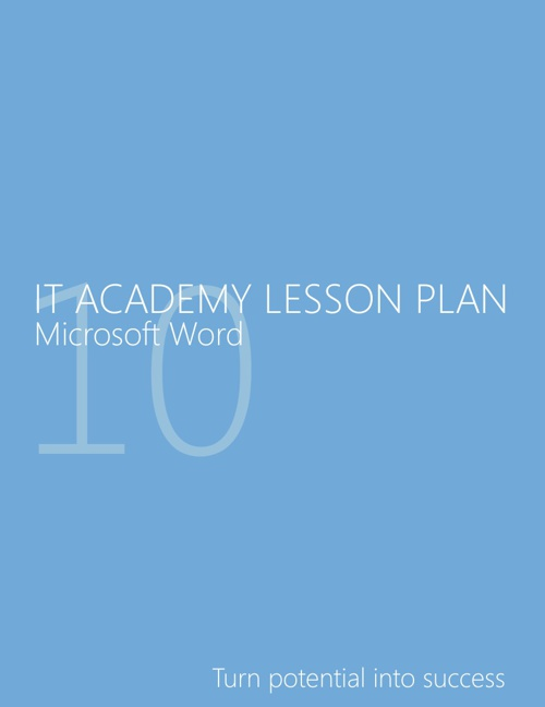 My Microsoft IT Academy Lesson Plans