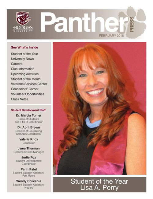 February 2016 Panther Press