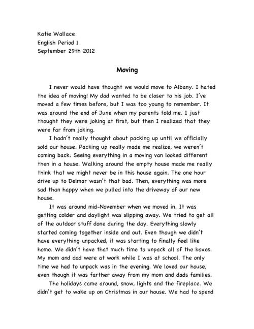 Katie's Memoir