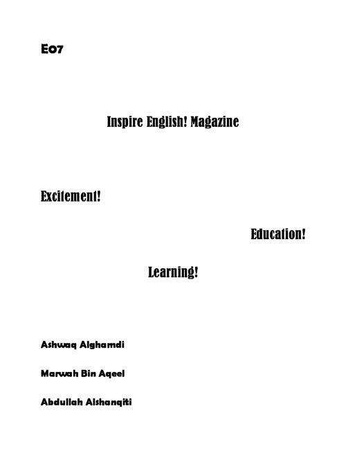 Inspire! English