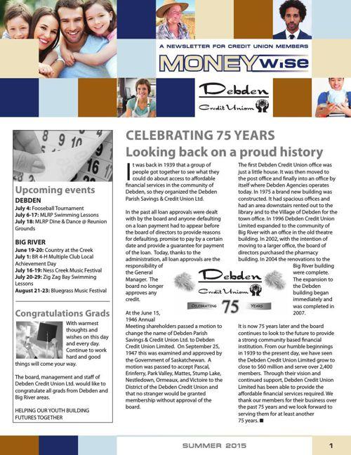 Debden Credit Union MoneyWise Summer 2015
