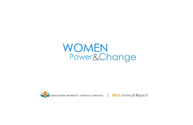 Annual Reports - Newcomer Women's Services Toronto