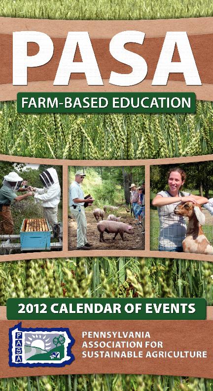 2012 Farm-Based Education Events Calendar