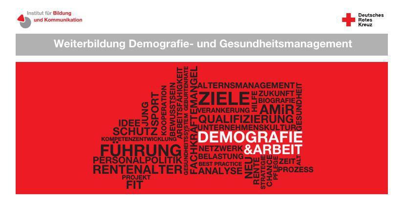 Broschüre Weiterbildung Demografie- und Gesundheitsmanagement