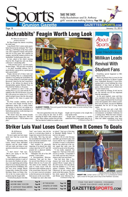 Gazette Sports | January 15, 2015