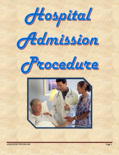 Hospital Admission Procedure