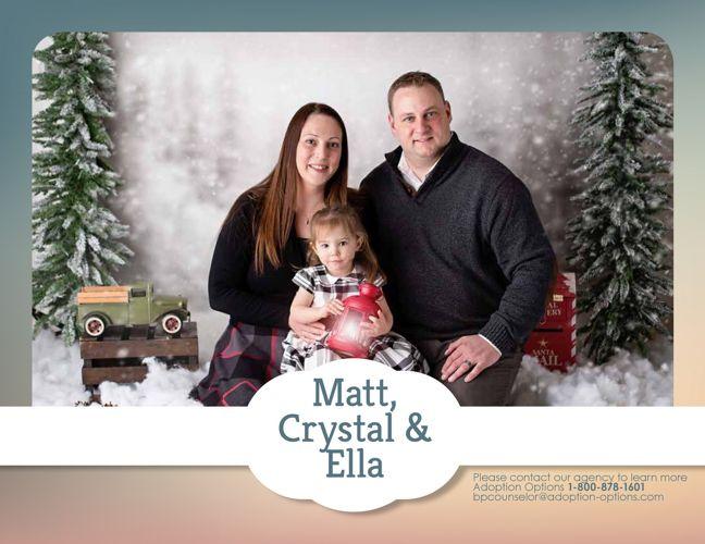 Matt, Crystal and Ella's Adoptive Family Profile