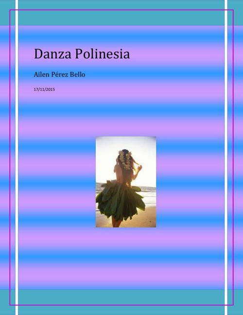 DANZA POLINESIA morado