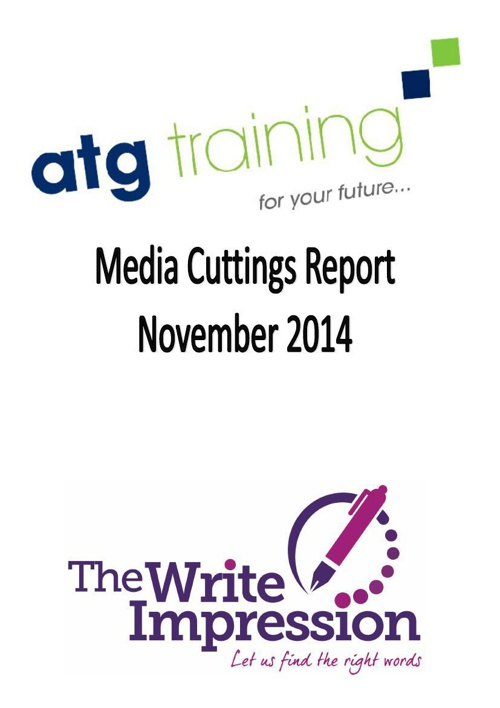 ATG MEDIA CUTTINGS AND UPCOMING ACTIVITY REPORT