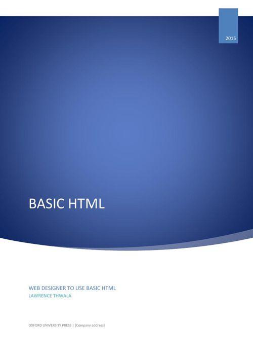 ASSIGNMENT 2A BASIC HTML