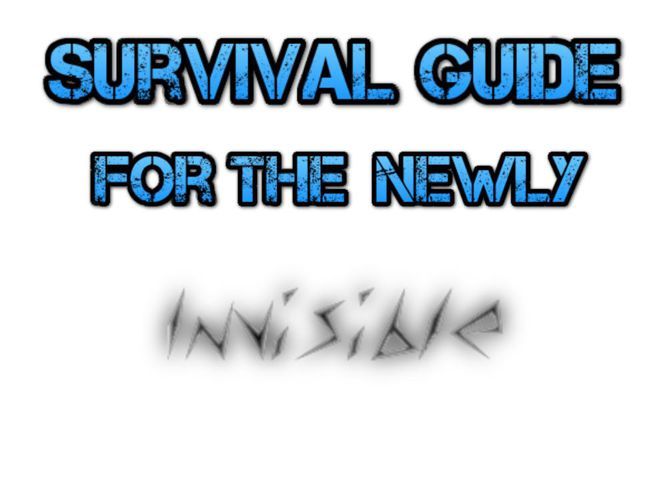 Survival Guide for the Newly Invisible