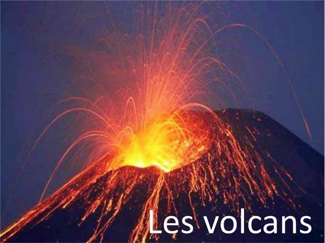 4.6 Les volcans