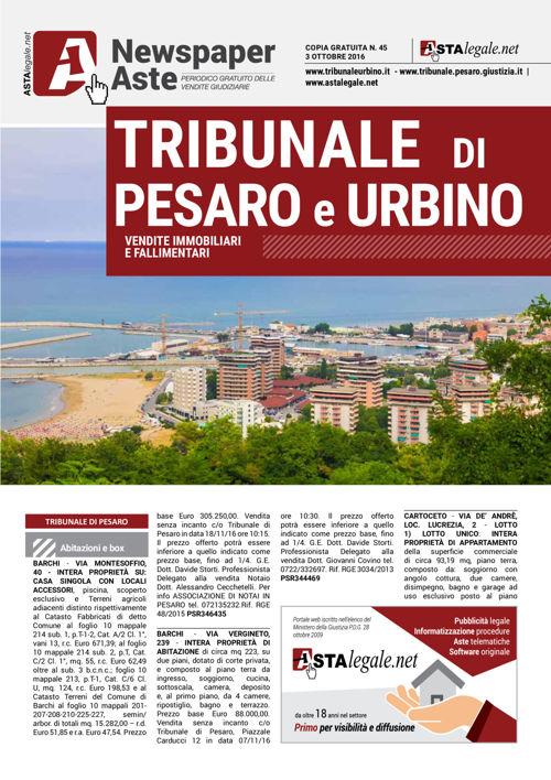 Pesaro Urbino ottobre 2016