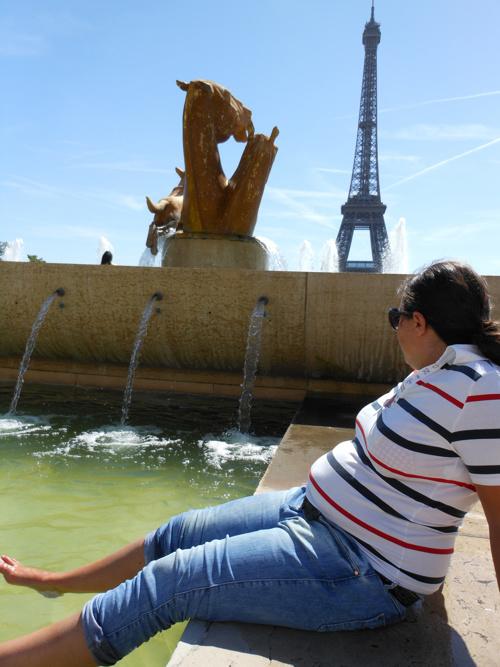 Pupazzina a Parigi