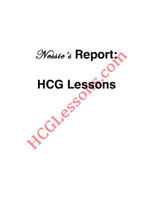 hCG Lessons