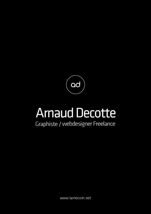 Arnaud Decotte, graphiste webdesigner freelance