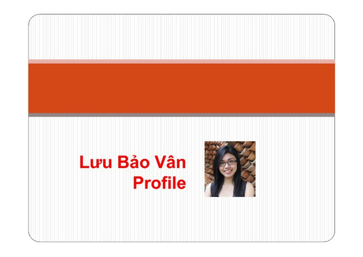 Luu Bao Van Profile