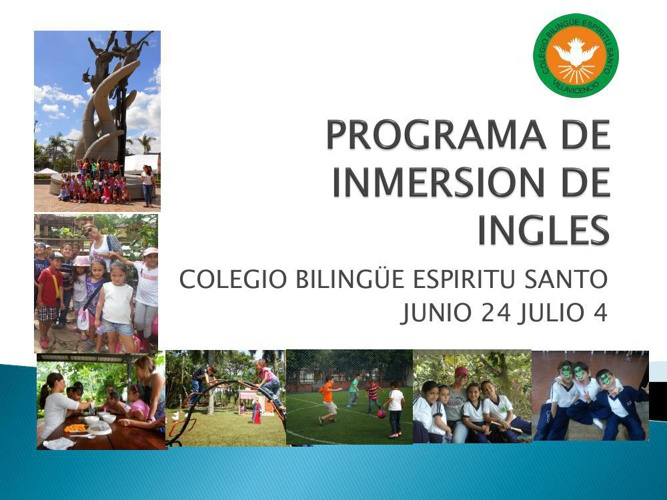 PROGRAMA DE INMERSION DE INGLES 1
