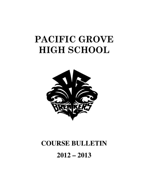 Course Bulletin Copy